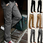 Fashion Men's Casual Pants Slim Straight-leg Long Business Trousers Size 29-32