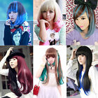 New Fashion Womens Lady Straight/Wavy Long/Short Hair Cosplay Party 6 Full Wigs