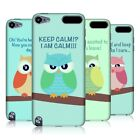 HEAD CASE DESIGNS MEAN OWLS HARD BACK CASE COVER FOR APPLE iPOD TOUCH 5G 5TH GEN