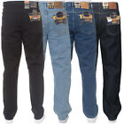 Mens Blue Circle Designer Black Wash Straight Fit Jeans Pants Waist Size 28-60