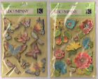 U CHOOSE  K&Company Susan Winget NATURE FLOWERS    NATURE INSECTS 3D Stickers