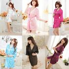 Sexy Women's V-neck Lingerie Nightgown Sleepwear Bath Robes Pajamas+G-String Hot