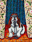 basset hound dog PRINTS impressionism dogs animals gift new 2000-now