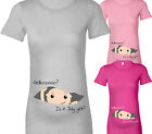 PERSONALISED BABY HELLO? FUN DESIGNER MATERNITY PREGNANT T SHIRT TSHIRT GIFT