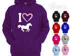 I HEART HORSES DESIGNER LADIES WOMENS HORSE RIDING HOODY HOODIES ALL SIZES