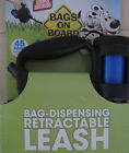 Bags on Board Retractable Leash with Built-in Bag Dispenser NEW