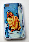 rubber fitted case for i phone 5 iphone 4 4s chinchilla persian cat  gift