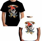 New Mens Loyal To None T Shirt Pirate Skull Style Tattoo Jerry Hardy W12569