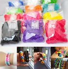 600 Colourful Rubber Bands 24 Clips 1 Hook For Rainbow Loom Refill Kit DIY Craft