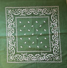 Dark Green Paisley Bandana Bandanna Headwear Bands Scarf Neck Wrist Wrap Headtie