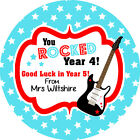 1x A4 sheet Personalised END OF SCHOOL YEAR TEACHER TO PUPILS Stickers Labels D3