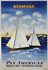 pan american vintage print poster, large 4 sizes available, Airline 23