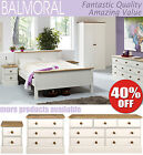 BALMORAL White Furniture, bedside table, chest of drawers, wardrobe BARGAIN