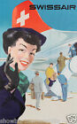 SWISSAIR airlines vintage print poster, large 4 sizes available, Airline 38
