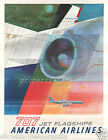 american airlines vintage print poster, large 4 sizes available, Airline 74