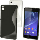 S-Line Gel TPU Skin Case Cover for Sony Xperia Z2 D6503 + Screen Protector