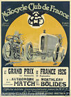 1926 GRAND PRIX vintage motorcycle print poster, large 4 sizes available, Auto 1