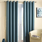 Wetherby Weatherby Blue Eyelet Ready Made Black Out Blackout Thermal Curtains