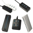 dodocool USB 3.0 Hub 3/4/7/10 Ports Super Speed 5Gbps for PC Laptop Macbook US