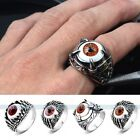 Silver Tone Ghost Claw Eye 316L Stainless Steel Men Ring Size7,8,9,10,11,12,13