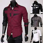 Kyпить New Mens Fashion Luxury Casual Slim Fit Stylish Long Sleeve Dress Shirts на еВаy.соm
