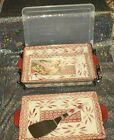 "Temp-tations Lasagna 9""x13"" Old World OR Floral Lace Lid-it, Server,Cover K34825"