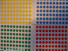 280 x 8mm ROUND STICKY DOTS STICKERS CIRCLE CODE PLANNER HOLIDAY CHART LABEL