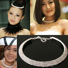 Shining Row Rhinestone cz Crystal Necklace choker Bridal Wedding party headband