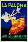 La Paloma Vintage French print poster, large 4 sizes available, France 111