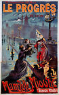 Vintage French Le Progres ad print poster, large 4 sizes available, France 138