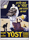 Yost Vintage French ad print poster, large 4 sizes available-France 195