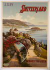 Switzerland vintage Railway ad print poster, 4 sizes available-Train 29