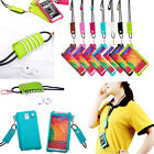 Cool Long Neck Strap Rope PU Leather Case For Samsung Galaxy S3 S4 Note2 Note 3