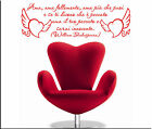WALL STICKERS STICKER ADESIVI MURALI ADESIVO FRASI WILLIAM SHAKESPEARE WS0949