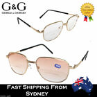 G&G Men Bi-focal Reading Glasses Clear Lens Tinted Gift for Dad +1.5 2.0 2.5