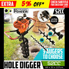 52cc Post Hole Digger Auger Petrol Drill Bit Fence Earth Borer Bits PRO-Series