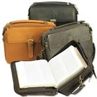 The Bookworm's Leather Bible Bag (for 2013 NWT Large Print Bible) Ministry Ideaz