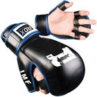 Authentic RDX Leather Gel Tech MMA UFC Grappling Gloves Fight Boxing Punch Bag F