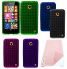 For Nokia Lumia 630 635 Cover TPU Gel Skin Candy Case + Screen Protector