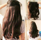 """21.7"""" Gorgeous Thick Long Curly Wavy Hair Extensions Clip-on Women Party Ball"""