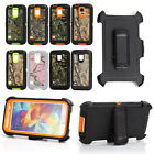 For Samsung Galaxy S5 I9600 Shockproof Defender Camo Belt Clip Holste Case