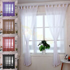 Plain Voile Curtains Net Slot Top Door Window Panels