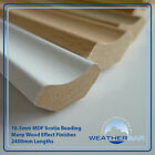 Laminate Wood MDF Scotia Floor Beading, Edging Strips,50 x 2400mm Lengths (120m)