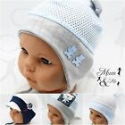 Baby Boys Striped Lace Up Hat Infant Spring Summer  Cotton Cap Newborn-2Years