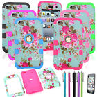 High Impact Hybrid Rubber Hard Soft Case Cover For iPod Touch 4 4th Gen Flowers