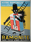 Vintage Ramonite French print poster, large 4 sizes available