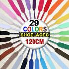 Flat Coloured Shoe Laces Bootlaces Trainers Skate Strong Shoelaces 29 Colours F