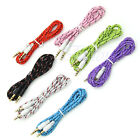 3.5mm Audio Aux Male Stereo Iphone Woven Fabric Braided Cable Pc Ipod For Phone