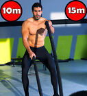 CROSSFIT HEAVY NYLON 15M 10M BATTLE ROPE BATTLING EXERCISE GYM CLIMBING TUG WAR
