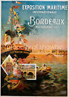 Vintage French Maritime travel print poster, large 4 sizes available